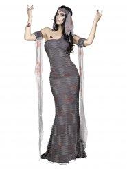 Disfraz zombie momia mujer