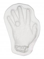 Molde pudding forma de mano transparente