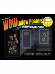 Pegatina ventana zombies 91 x 152 cm
