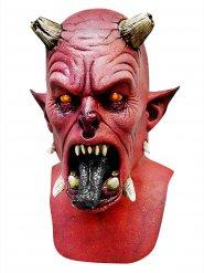 Máscara roja demonio Halloween