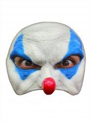 Máscara payaso malvado de Halloween blanco y azul