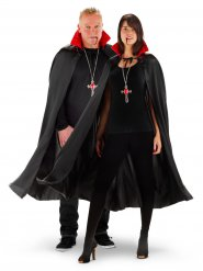 Capa de vampiro cuello LED Halloween