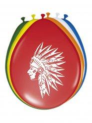 6 Globos amerindio de colores 30 cm