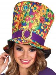 Sombrero de copa multicolor hippie adulto