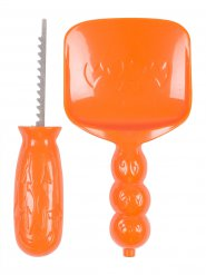 Kit escultura para calabaza naranja