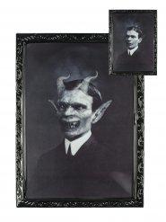 Cadre lenticular caballero demoniaco 48 x 36 cm Halloween
