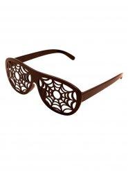Gafas telarañas Halloween marrón