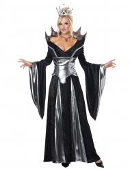 Disfraz de reina diabólica de los cuentos de hadas mujer