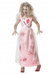 Disfraz reina de graduación zombie mujer Halloween