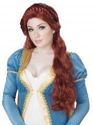 Peluca de princesa medieval mujer