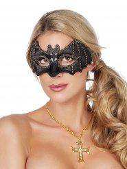 Máscara murciélago piedras preciosas negro