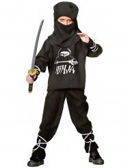 Disfraz ninja negro y blanco para niño