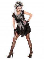 Disfraz punk zombie mujer