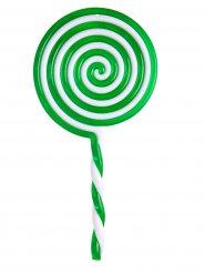 Piruleta verde de plástico 22.5 cm