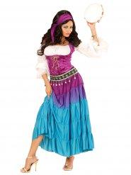 Disfraz de zingara mujer multicolor