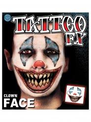 Tatuajes payaso espeluznante Halloween