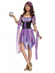 Disfraz de adivina violeta mujer