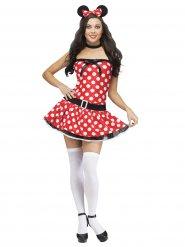 Disfraz ratón mujer sexy rojo blanco y negro