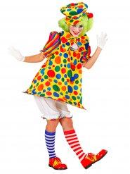 Disfraz payaso de circo multicolor mujer