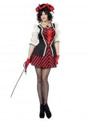 Disfraz vestido pirata mujer