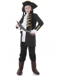Disfraz niño pirata noble negro