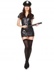 Disfraz de policía para mujer sexy negro