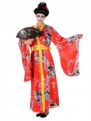 Disfraz de Geisha rojo mujer