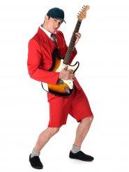 Disfraz rojo de estrella del rock adulto