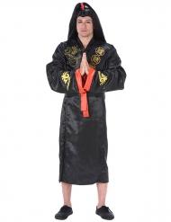 Disfraz samurai adulto negro y dorado