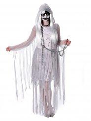 Disfraz de fantasma blanco para mujer Halloween