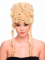Peluca rubia rizada diosa antigua