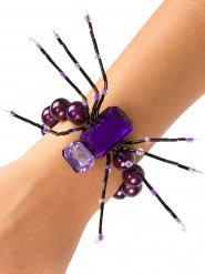 Pulsera araña violeta 13 cm