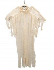 Decoración ángel blanco esqueleto para colgar 110 cm