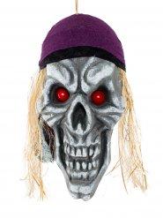 Decoración cráneo pirata terror de los mares 42 x 22 cm