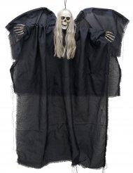 Decoración ángel negro de la muerte luminoso para colgar 110 cm