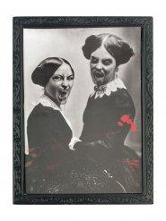 Cuadro negro y blanco 36 x 48 cm Halloween