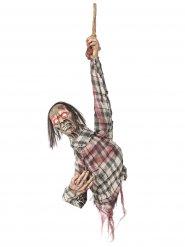 Decoración para colgar de torso de zombie 80 cm