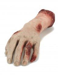 Decoración mano sangrienta