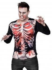Camiseta zombie esqueleto Halloween
