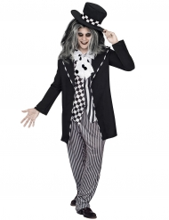 Sombrerero loco cuento de hadas Halloween negro-blanco hombre