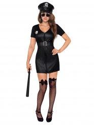 Disfraz de policía mujer sexy negro