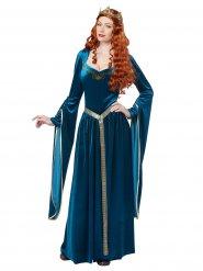 Disfraz medieval azul para mujer