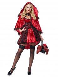 Disfraz Caperucita roja sexy  rojo y negro mujer