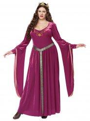 Disfraz de princesa medieval talla grande mujer