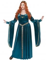 Princesa medieval azul talla grande mujer