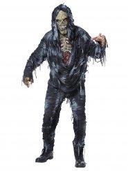 Disfraz zombie deslavado gris hombre