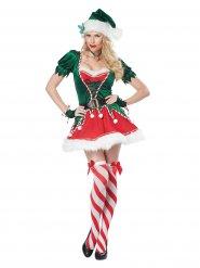 Disfraz elfo de Navidad sexy mujer