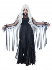 Disfraz fantasma elegante Halloween mujer negro