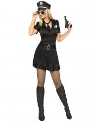 Disfraz policía sexy vestido negro mujer