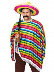 Disfraz mexicano multicolor adulto